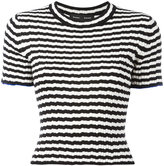 Proenza Schouler striped fitted T-shirt - women - Silk/Cashmere - M