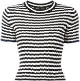Proenza Schouler striped fitted T-shirt - women - Silk/Cashmere - XS