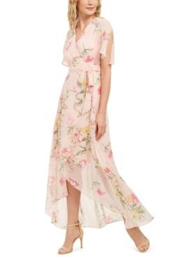 Jessica Howard Floral-Print Wrap Maxi Dress