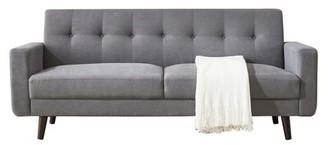 "George Oliver Pomona 79"" Square Arm Sofa Fabric: Gray Polyester"