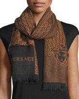 Versace Maze Pattern Wool Scarf