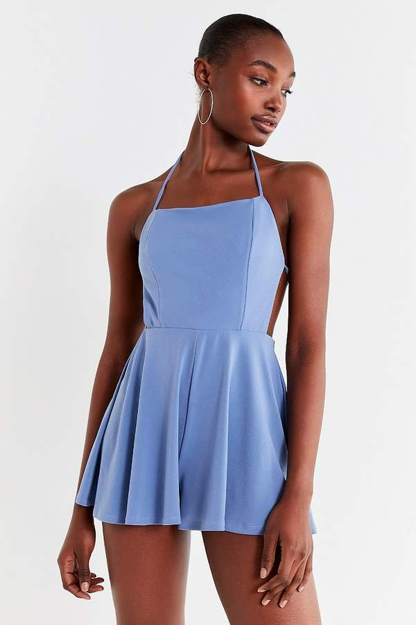 Urban Outfitters Tie-Back Crepe Romper