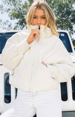 Beginning Boutique Remi Puffer Jacket White