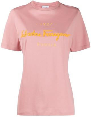 Salvatore Ferragamo embossed-logo T-shirt