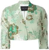 Christian Pellizzari cropped jacquard jacket