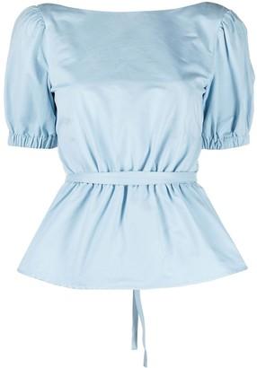 STAUD Marie peplum blouse
