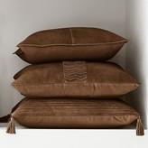 Williams-Sonoma Williams Sonoma Suede Origami Cut Pillow Cover, Saddle