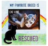 """Gibson CR 8-Inch x 8-Inch """"My Favorite Breed is Rescued"""" Cat Lover Pet Frame with Easel Back"""