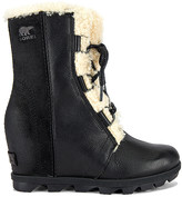Sorel Joan of Arctic Wedge II Shearling Bootie In Black