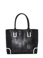 Lizard Embossed Leather D Tote Bag