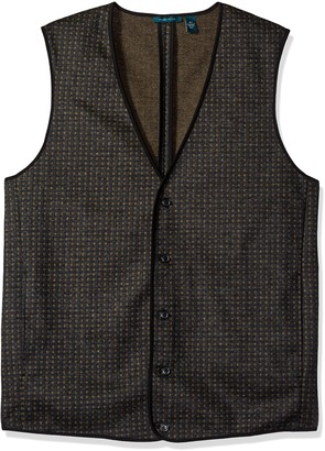 Perry Ellis Men's Big and Tall Jacquard Party Vest