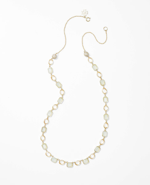 Ann Taylor Mixed Crystal Delicate Necklace