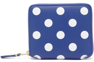 Comme des Garcons Polka-dot Leather Bi-fold Wallet - Navy Multi