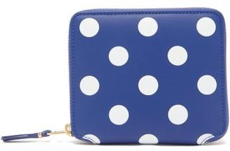 Comme des Garcons Polka-dot Leather Bi-fold Wallet - Womens - Navy Multi