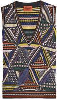 Missoni Knit Sleeveless Top with Metallic Thread
