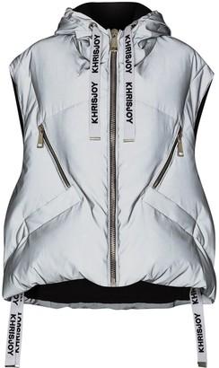 KHRISJOY Hooded Sleeveless Puffer Jacket