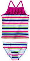 Classic Girls Plus Size Tankini Swimsuit Set-Perfect Purple Print