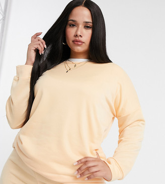 Yours sweatshirt co-ord in pale peach