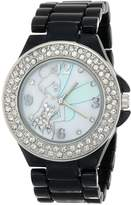 Disney Women's Tinkerbell Dial Enamel Bracelet Watch Mother-Of-Pearl TK2030