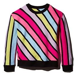 Rockets of Awesome Girls' Diagonal-Rainbow Sweater - Little Kid, Big Kid