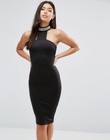 AX Paris T Bar Embelished Neck Midi Dress