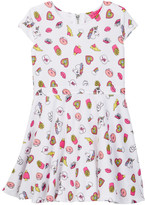 Betsey Johnson Emoji Print Soft Scuba Dress (Toddler Girls)