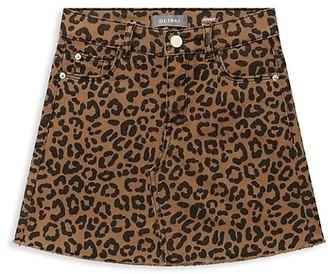 DL1961 Little Girl's Jenny Jaguar-Print Mini Skirt