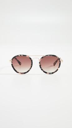Lele Sadoughi Downtown Aviator Sunglasses