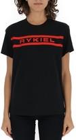 Sonia Rykiel Logo Contrast Crew Neck T-Shirt