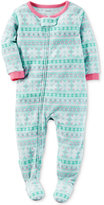 Carter's 1-Pc. Fair Isle Footed Pajamas, Baby Girls (0-24 months)