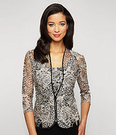 Alex Evenings Embroidered Floral Lace Twinset