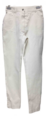 Chanel White Cotton Jeans for Women Vintage
