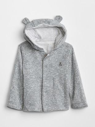 Gap Baby Favorite Reversible Bear Hoodie Sweatshirt