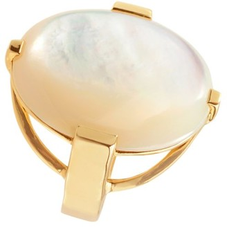 Ippolita Polished Rock Candy 18K Yellow Gold & Mother-Of-Pearl Oval Ring