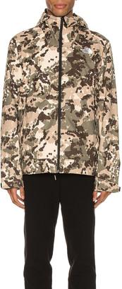 The North Face Millerton Jacket in Burnt Olive Green Digi Topo Print | FWRD