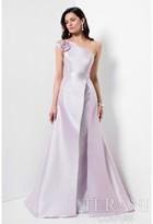 Terani Evening - Stylish Rosette Asymmetric A-line Gown 1711M3359