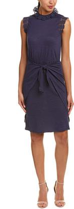 Rebecca Taylor Crochet Linen Shift Dress