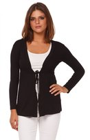 Glamour Empire. Womens Jersey Tie Cardigan Top Empire Waist. Long Sleeves. 235 (