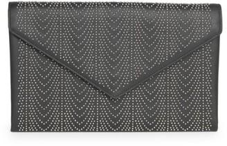 Alaia Oum Studded Leather Clutch