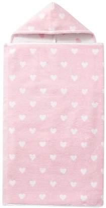 Pottery Barn Kids Heart Bath Wrap, Light Pink