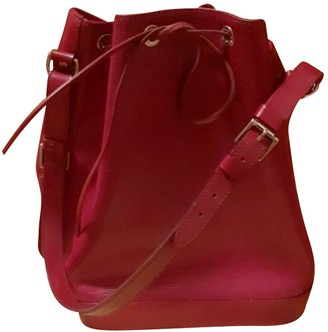 Louis Vuitton Noe Burgundy Leather Handbags