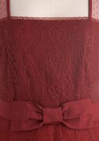 Entrancing in Scarlet Dress