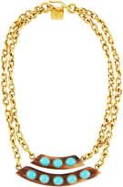 Ashley Pittman Ukuta Horn & Turquoise Double-Strand Statement Necklace