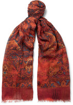 Alexander Mcqueen - Tapestry Modal, Cotton And Cashmere-blend Scarf
