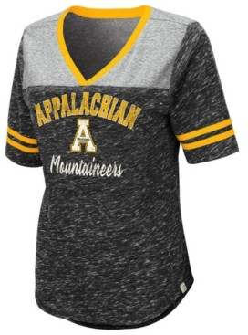 Colosseum Women's Appalachian State Mountaineers Mr Big V-neck T-Shirt