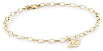 Sydney Evan 14K Yellow Gold & Diamond Evil Eye Charm Link Bracelet