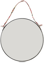Nkuku Kiko Round Mirror - Antique Zinc - Small