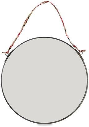 Nkuku Kiko Round Mirror - Antique Zinc - Small