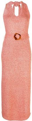Nicholas marl-knit halter neck dress