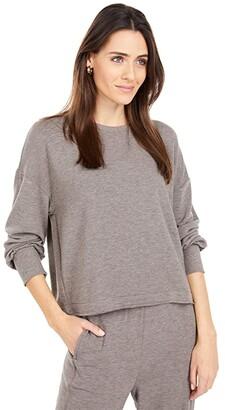 Lucky Brand Cloud Fleece Top (Cocoa Brown) Women's Clothing